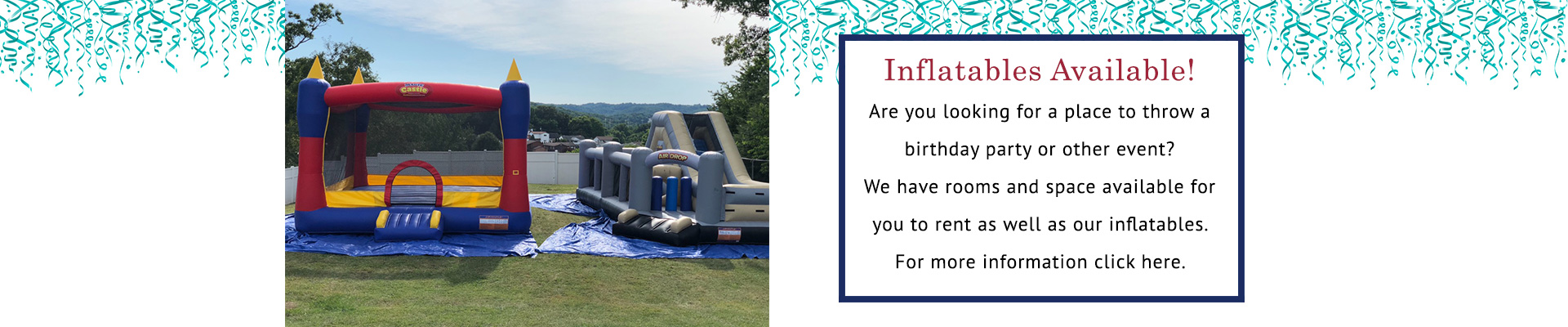 Inflatables Available